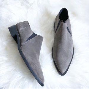 Zara Gray Suede Ankle Short Booties 39